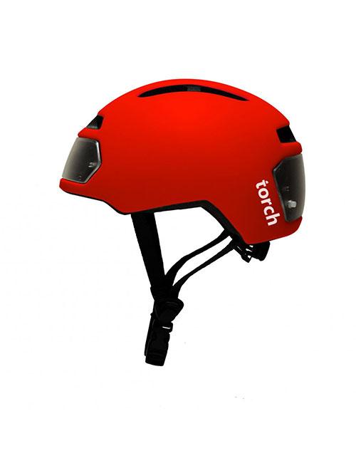 Torch T2 monowheel helm rood met geintegreerd licht